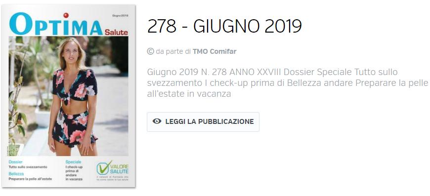 Optima Salute – edizione di Giugno 2019.